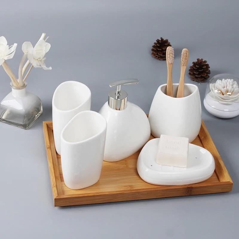 Zen Spotless Bathroom Accessories Set Homecuration