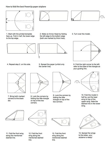 cool paper plane diagram cub cadet wiring for zero turn how to fold an electric airplane - powerup toys