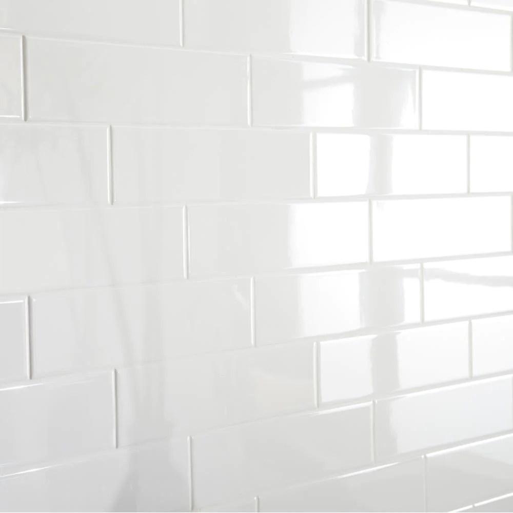 white ceramic subway tile 3x12 glossy free shipping
