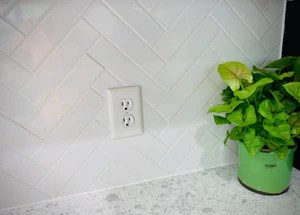 white subway tile gloss finish 2x8 60 pieces box of 6 7 sq ft for kitchen backsplash and bathroom wall free shipping