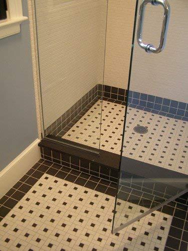 vintage black unglazed square 2x2 inch porcelain floor wall tile free shipping