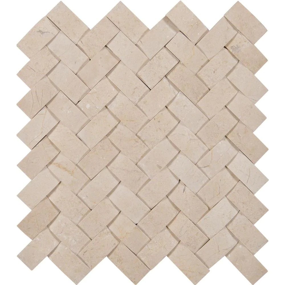 msi crema arched herringbone 12 in x 12 in x 10mm polished marble mesh mounted mosaic tile 10 sq ft case
