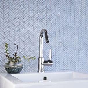 herringbone ceramic mosaic tile shinny box of 10 sheets for wall tile backsplash tile bathroom tile free shipping