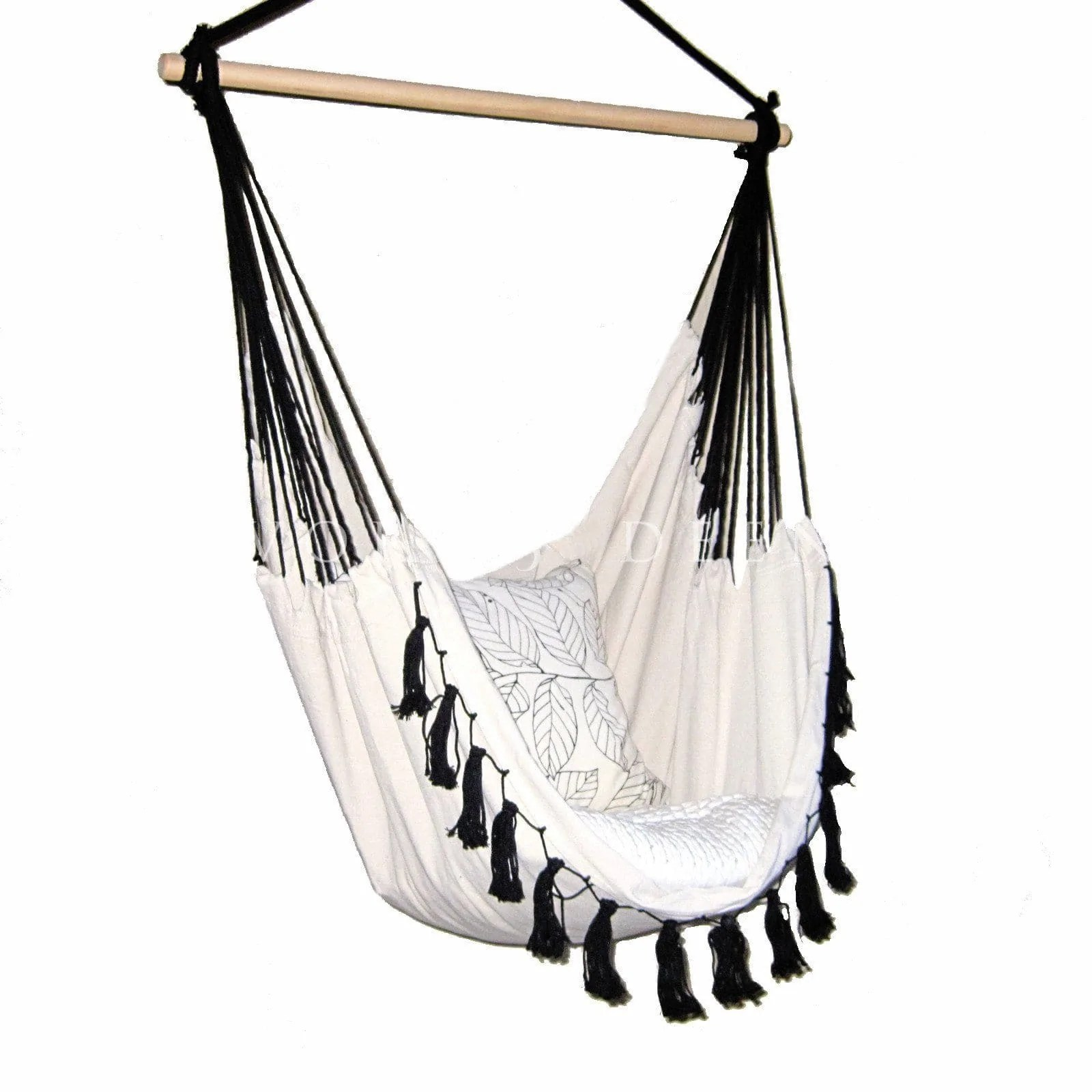 Black Hanging Chair Hammock Chair Soho Cream With Tassels Ivory And Deene