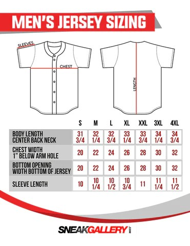 Baseball jersey size chart also sneakgallery rh