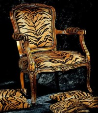 """Tigress"" Fauteuil Baroque Louis XIV Victorian French"