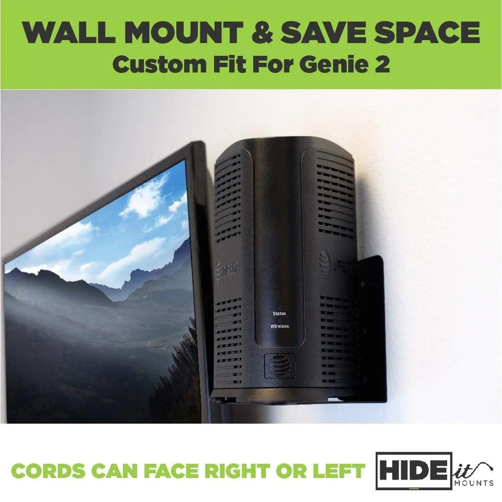 hight resolution of genie 2 wall mount hideit mount for directv genie hd dvr receiver rh hideitmounts com direct tv cabling diagram for genie mini r c61 700 genie 2 directv