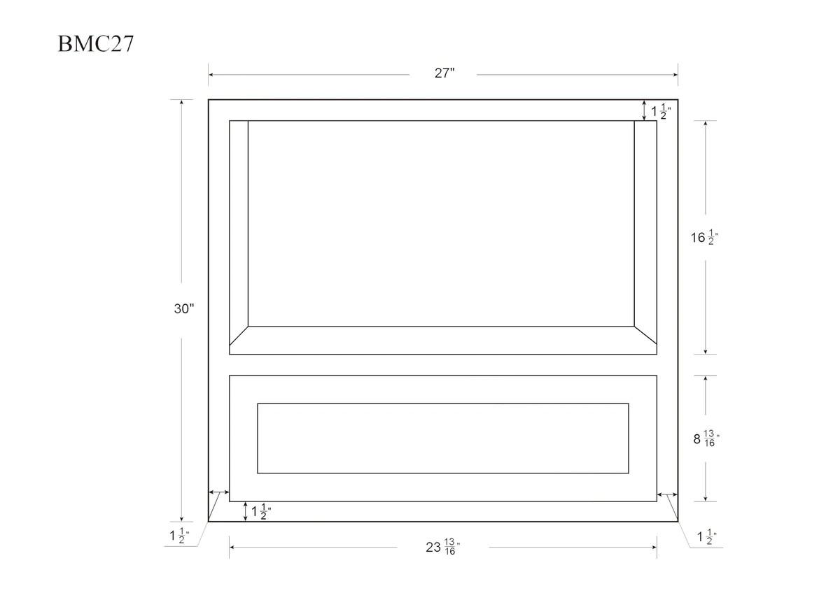 vintage white inset raised panel microwave base cabinet 27