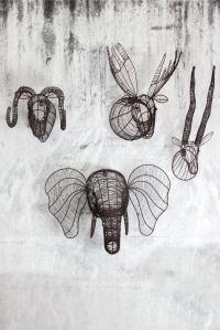 Wire Elephant Head Wall Sculpture   Eko elephant head by ...