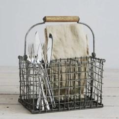 Kitchen Wire Storage Roll Around Island Vintage Cutlery Basket   Tilmo By ...
