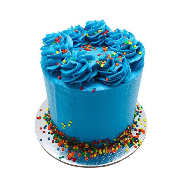Brilliant Blue Cake 5 Inch The Cupcake Queens