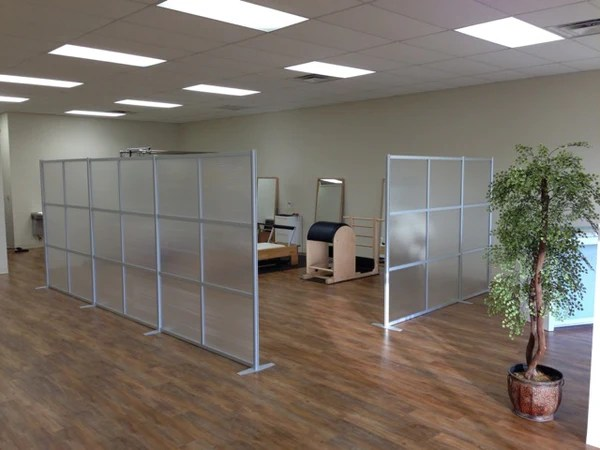 Zen Room Dividers to separate space at Bay Area Pilates Studio