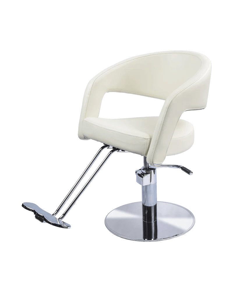 Beauty Salon Chair Austin Styling Chair In Ivory White