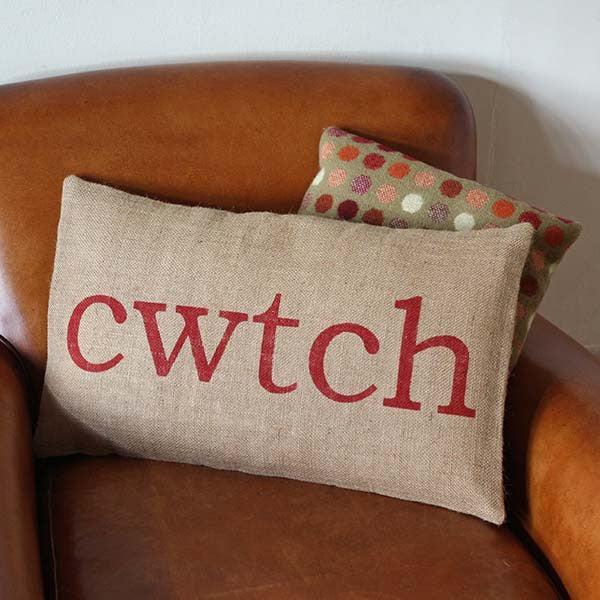 Cushion Welsh Cwtch Cwtsh The Welsh Gift Shop