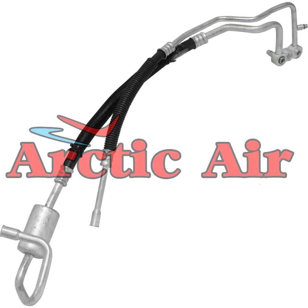ac discharge hose line for 1998 1999 dodge durango 3 9l 5 2l 5 9l arctic air [ 1000 x 1000 Pixel ]