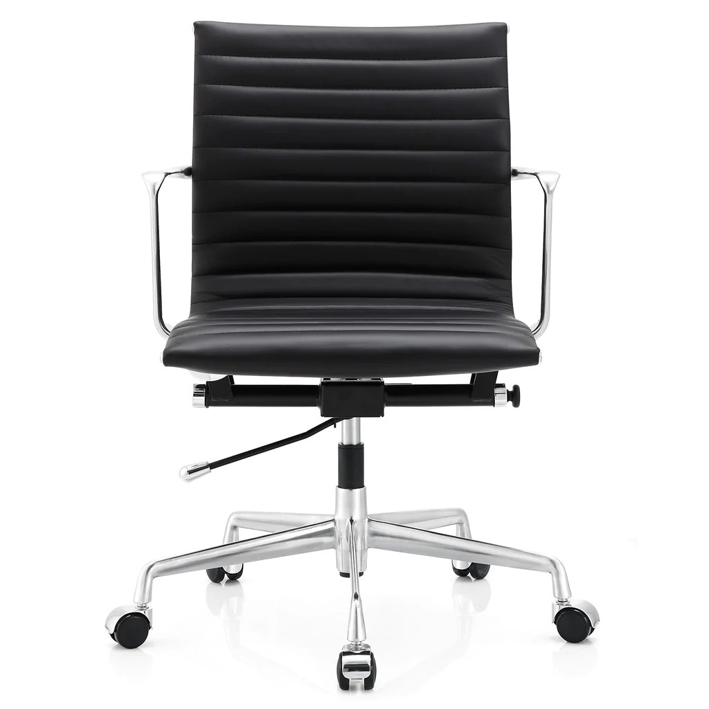 ergonomic chair options black spindle dining m5 office in aniline leather color