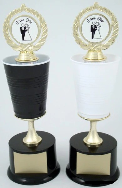 beer pong trophy wedding
