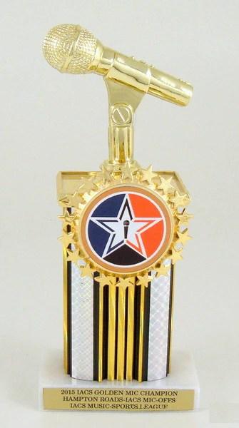 microphone starred logo holder