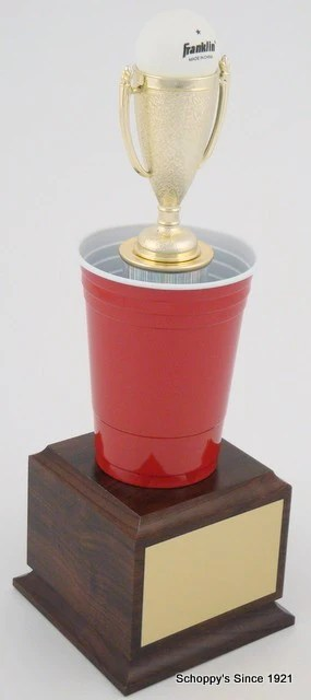 beer pong trophy large
