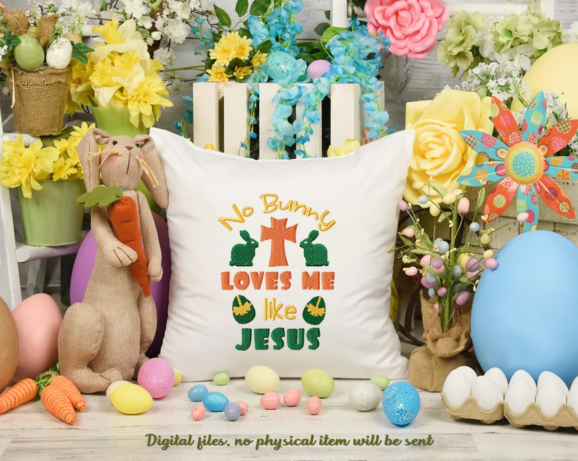 Download No Bunny Loves Me Like Jesus Free Embroidery Design ...