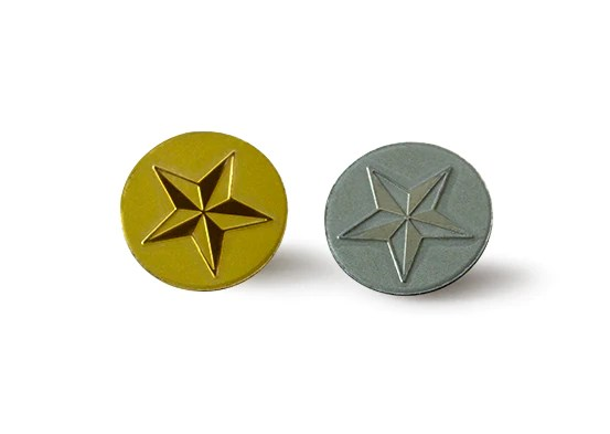 star luxe lapel pins