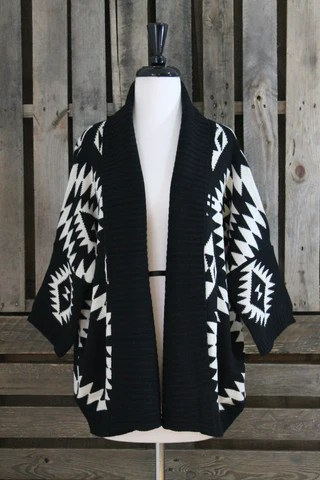 Black and White Aztec Sweater