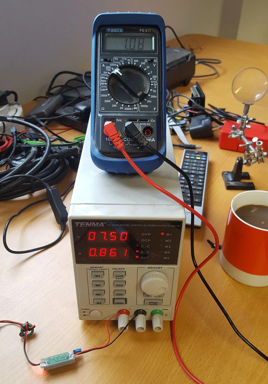 here we can see the same tests being run with a source voltage of 6 5v we got the ocasional low power warning [ 900 x 1289 Pixel ]