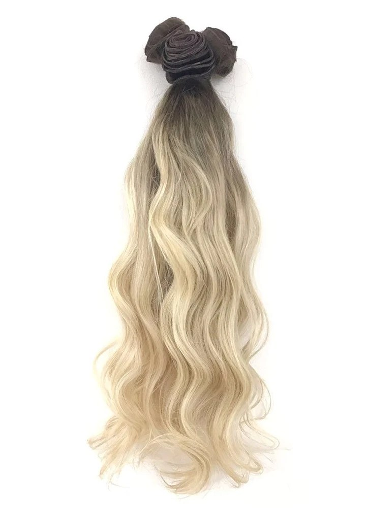 double drawn balayage ombre hair