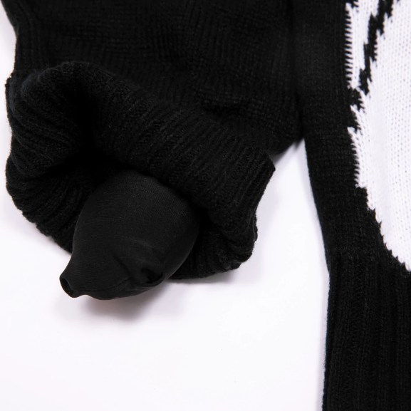 Lord Nermal Flippy Knitty Sweater (Black)