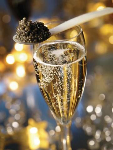 Caviar and Champagne a classic combination for caviar