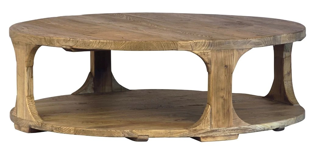 emil round coffee table reclaimed elm 48