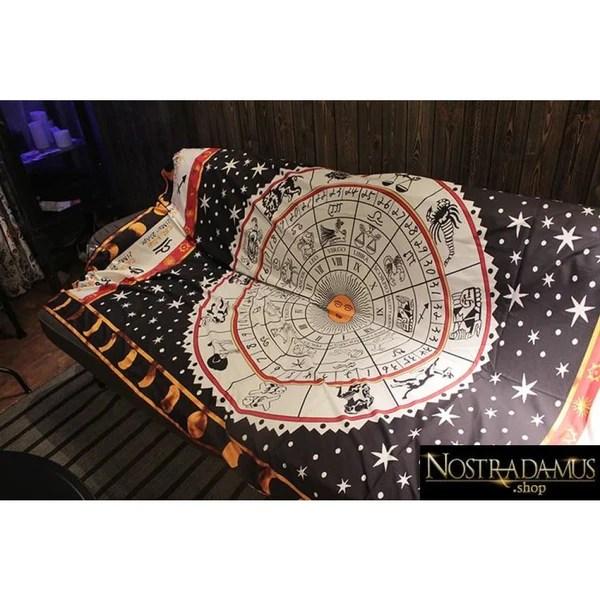 tapis pour arts divinatoires zodiaque