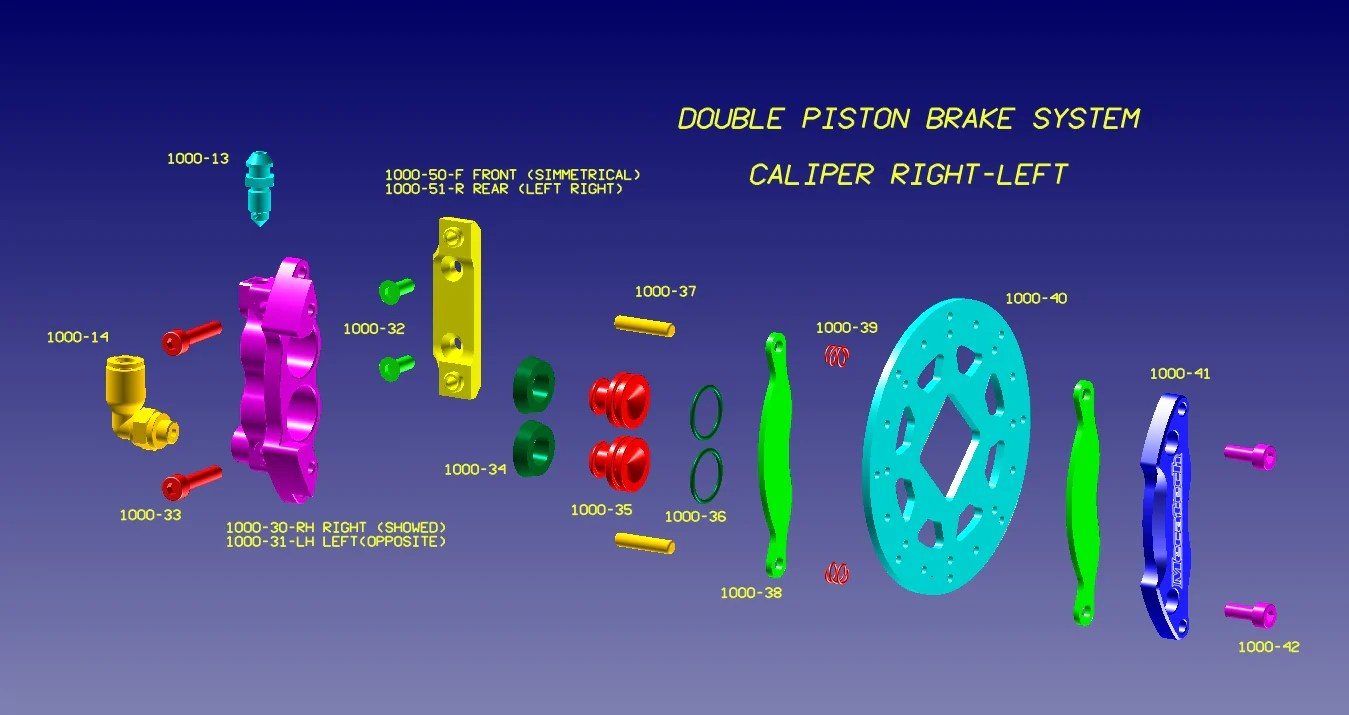 hight resolution of brake part diagram