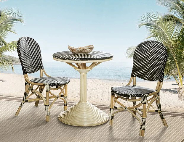 french bistro dining table black beige
