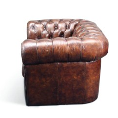 Cote Chic Sofa With Drink Holders Fauteuil Chesterfield Original | Rose & Moore