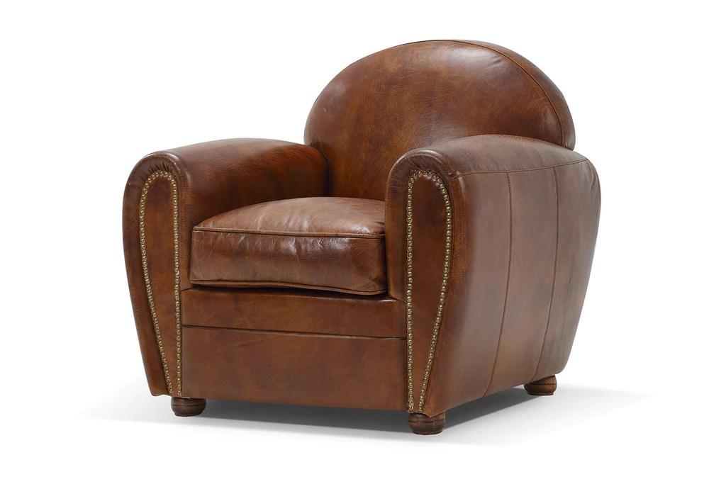 fauteuil club original en cuir