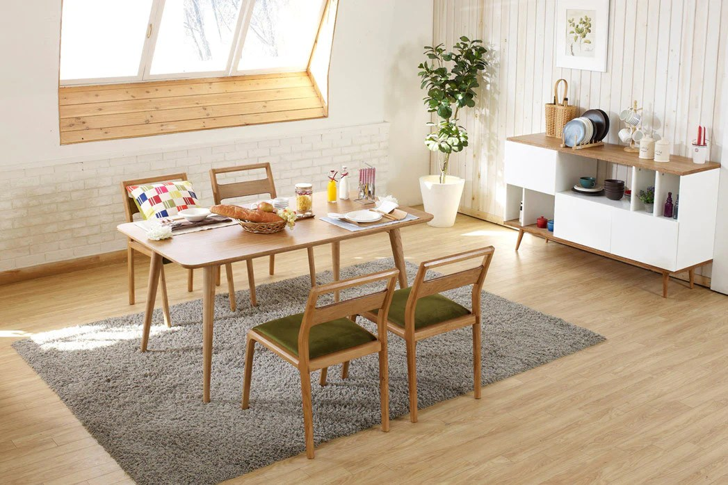 Table de salle  manger design en bois Julia  Dewarens