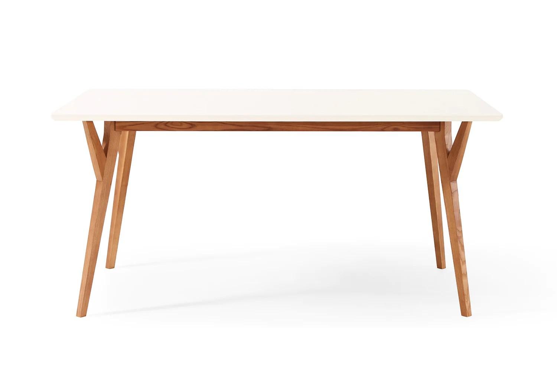 Table A Manger Bois Et Blanc Table à Manger Design Vintage Blanche