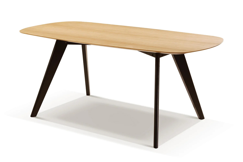 table moderne noire et bois albula