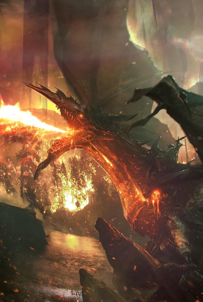 lava dragon art of
