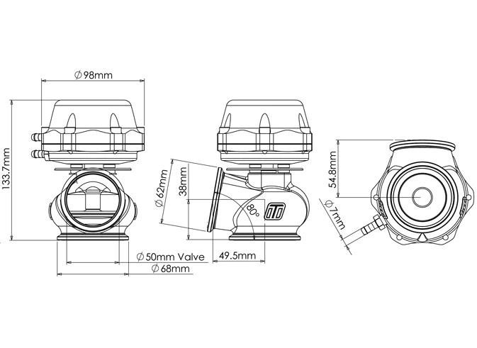 external wastegate diagram ford hei ignition turbosmart pro gate 50 50mm euro sport accessories