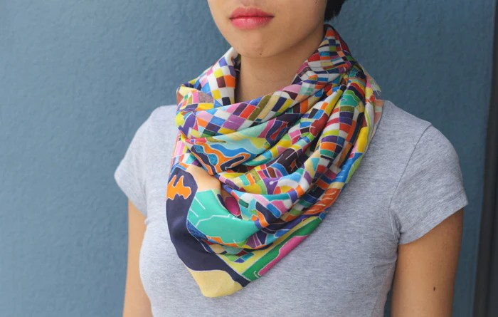 San Francisco Map Scarf - by Jennifer Maravillas