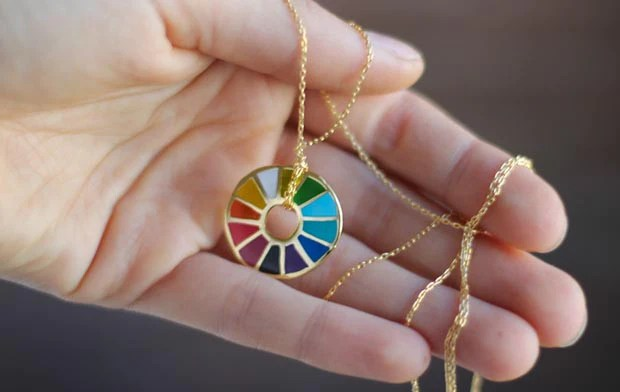 Color Wheel Pendant - by Yellow Owl Workshop