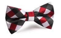 White Black Maroon Checkered Bow Tie | OTAA
