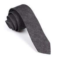 Black Denim Jeans Cotton Skinny Tie | Slim Ties Neckties ...