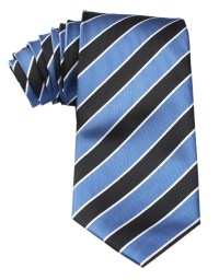 Black and Blue Striped Tie | Australian Neckties | Ties ...