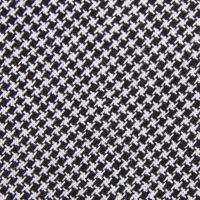 Black & White Houndstooth Cotton Skinny Tie | Slim Thin ...
