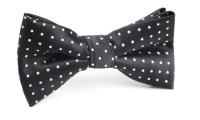 Black with Small White Polka Dot - Bow Tie | Mens Ties ...