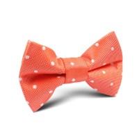 Coral Orange with White Polka Dots Kids Bow Tie | Kid ...