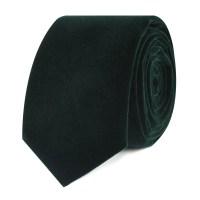 Dark Green Velvet Skinny Tie   Slim Ties Thin Neckties ...